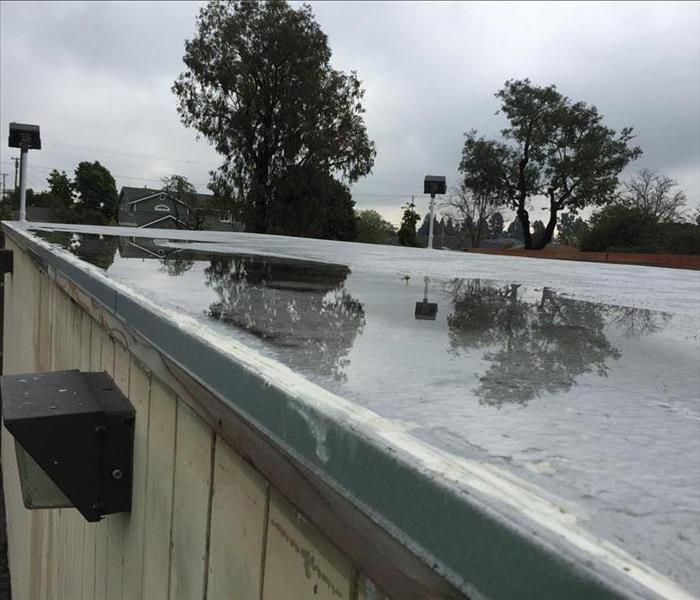Water pooling on roof